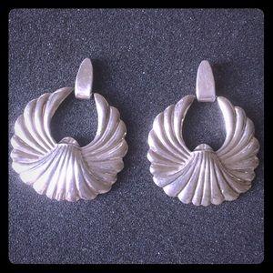 Vintage Taxco Sterling Silver Art Deco Earrings